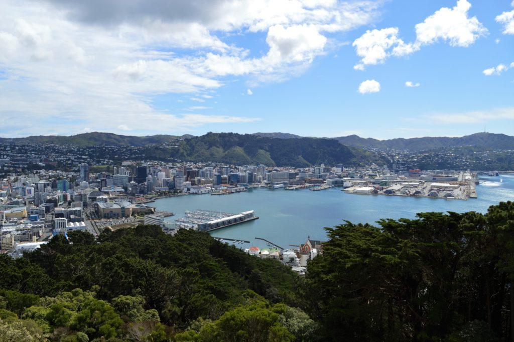 Wellington vue du mont victoria